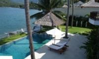 Gardens and Pool - Villa Blanca - Candidasa, Bali
