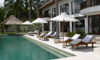 Pool Side Loungers - Villa Blanca - Candidasa, Bali