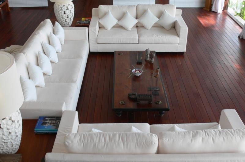 Living Area Top View - Villa Blanca - Candidasa, Bali