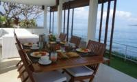 Dining Area with Sea View - Villa Blanca - Candidasa, Bali