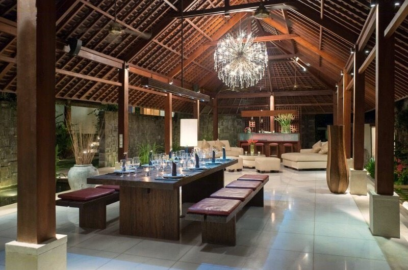 Living and Dining Area - Villa Bunga Pangi - Canggu, Bali