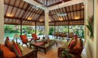 Living and Dining Area with Garden View - Villa Bunga Wangi - Canggu, Bali