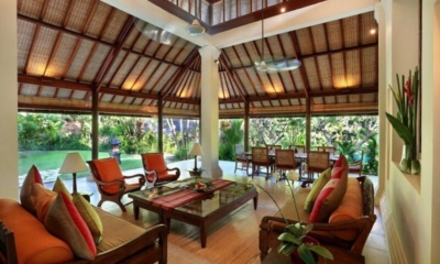 Living and Dining Area with Garden View - Villa Bunga Wangi - Canggu, Bali