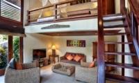 Living Area with Up Stairs - Villa Bunga Wangi - Canggu, Bali
