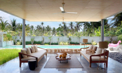 Living Area with Pool View - Villa Casabama - Villa Casabama Sandiwara - Gianyar, Bali