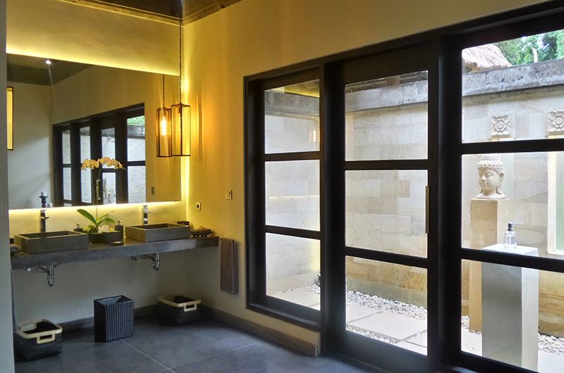 His and Hers Bathroom with Mirror - Villa Condense - Ubud, Bali
