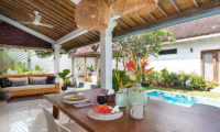 Dining Area with Pool View - Villa Crystal - Seminyak, Bali