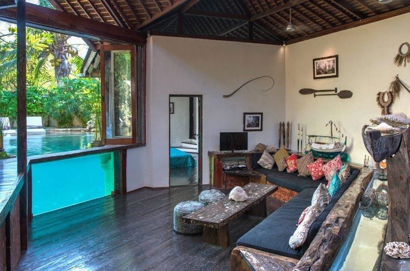 Lounge Area with Pool View - Villa Djukun - Seminyak, Bali