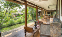 Living and Dining Area with Garden View - Villa East Indies - Pererenan, Bali