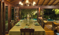 Dining Area with Pool View - Villa East Indies - Pererenan, Bali