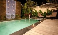 Pool at Night - Villa Elok - Batubelig, Bali