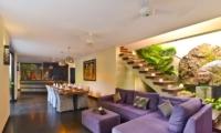 Indoor Living and Dining Area - Villa Elok - Batubelig, Bali