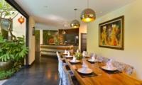 Kitchen and Dining Area - Villa Elok - Batubelig, Bali