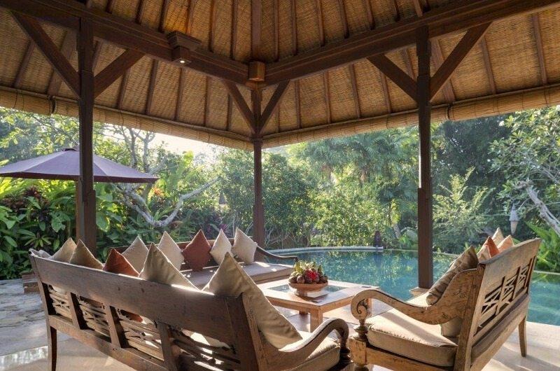 Living Area with Pool View - Villa Frangipani - Canggu, Bali