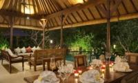 Living and Dining Area with Pool View - Villa Frangipani - Canggu, Bali