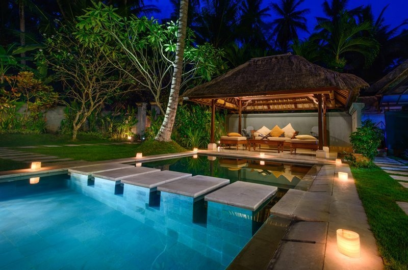 Pool at Night - Villa Gils - Candidasa, Bali