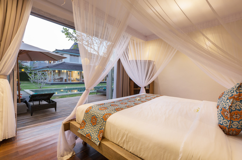 Bedroom with Pool View - Villa Hasian - Jimbaran, Bali