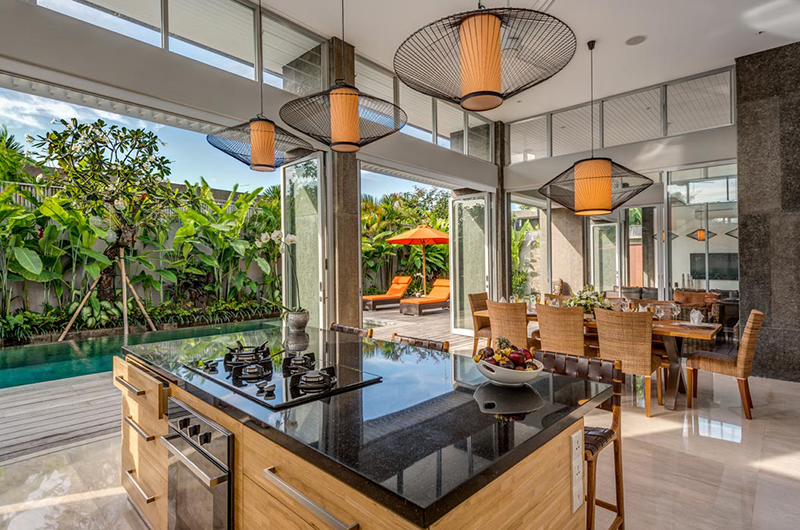 Kitchen and Dining Area - Villa Indah Aramanis - Seminyak, Bali