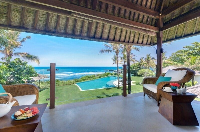 Lounge Area with Sea View - Villa Jagaditha - Seseh, Bali