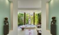 Romantic Bathtub Set Up with Rose Petals - Villa Jagaditha - Seseh, Bali