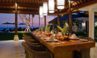 Dining at Night - Villa Jagaditha - Seseh, Bali