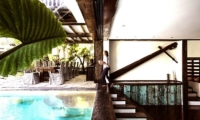 Pool Side Dining - Villa Jempiring - Seminyak, Bali