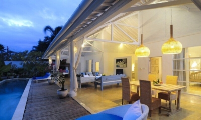 Living and Dining Area at Night - Villa Jolanda - Seminyak, Bali