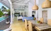 Living and Dining Area - Villa Jolanda - Seminyak, Bali