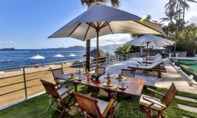 Dining Area with Sea View - Villa jukung - Candidasa, Bali