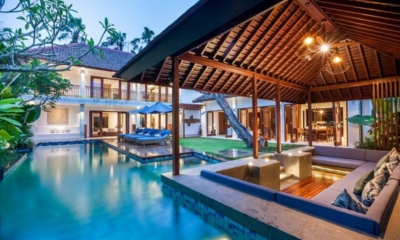 Pool Bale at Night - Villa Kajou - Seminyak, Bali