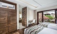 Twin Bedroom and Balcony - Villa Kajou - Seminyak, Bali