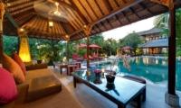Pool Side Seating Area - Villa Kalimaya - Seminyak, Bali