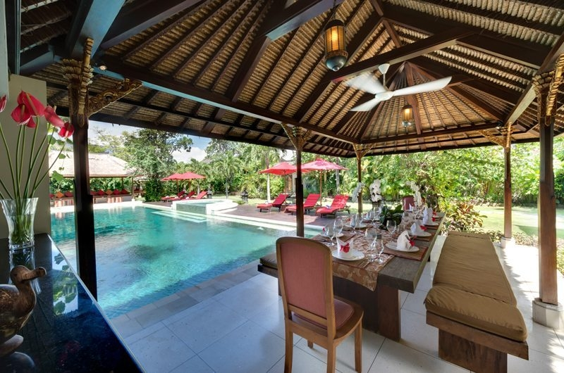 Pool Side Dining - Villa Kalimaya - Seminyak, Bali