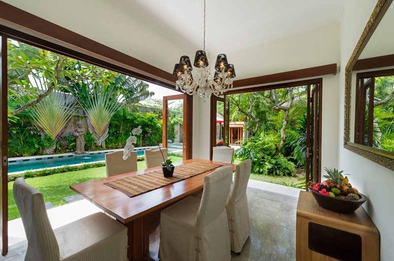Dining Area with Pool View - Villa Kalimaya - Seminyak, Bali