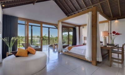 Bedroom and Balcony with View - Villa Kavya - Canggu, Bali