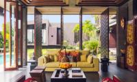 Living Area with Pool View - Villa Kayajiwa - Canggu, Bali