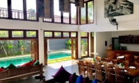 Living and Dining Area Top View - Villa Khaleesi - Seminyak, Bali