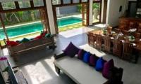 Living Area with Pool View - Villa Khaleesi - Seminyak, Bali