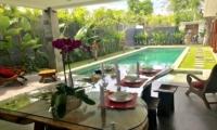 Pool Side Dining - Villa Khaleesi - Seminyak, Bali