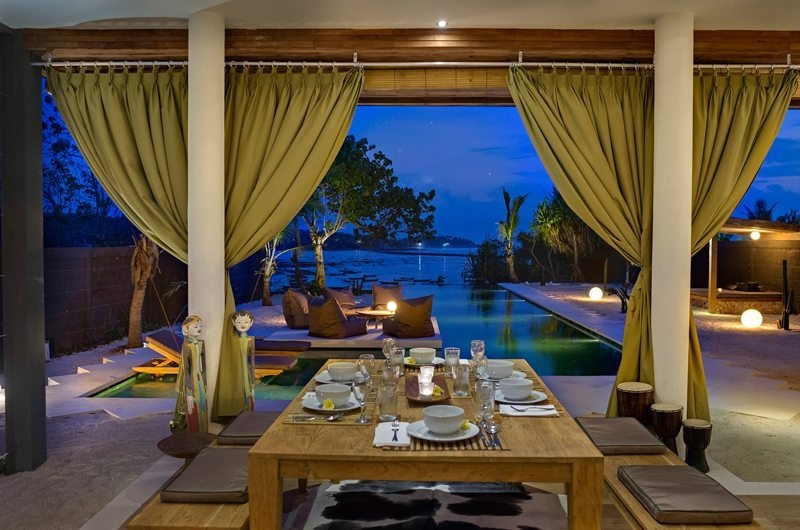 Dining Area with Pool View - Villa Kingfisher - Nusa Lembongan, Bali