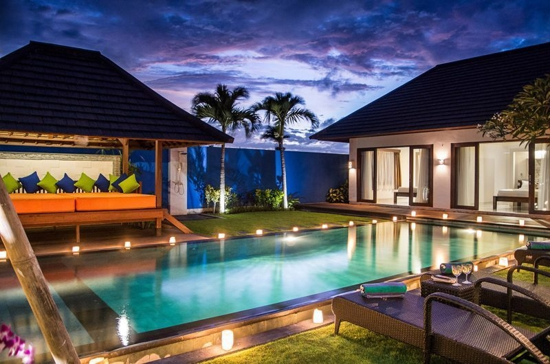 Pool at Night - Villa Kirgeo - Canggu, Bali