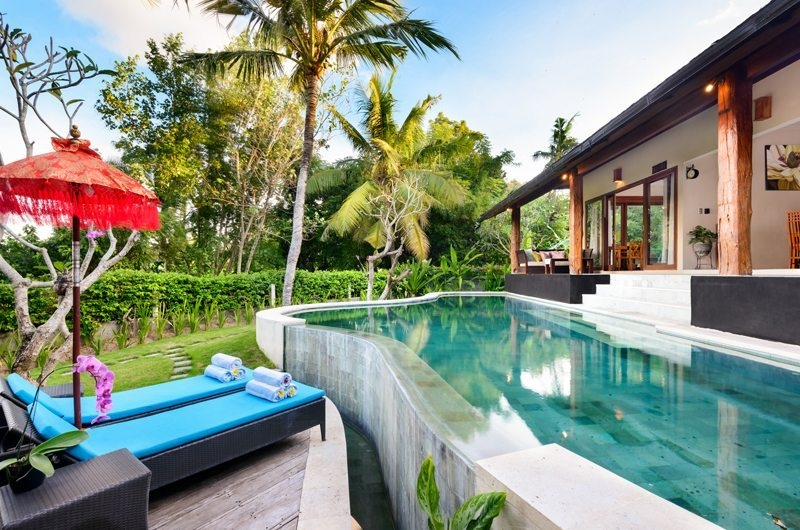 Pool Side Loungers - Villa Kubu Bidadari - Canggu, Bali