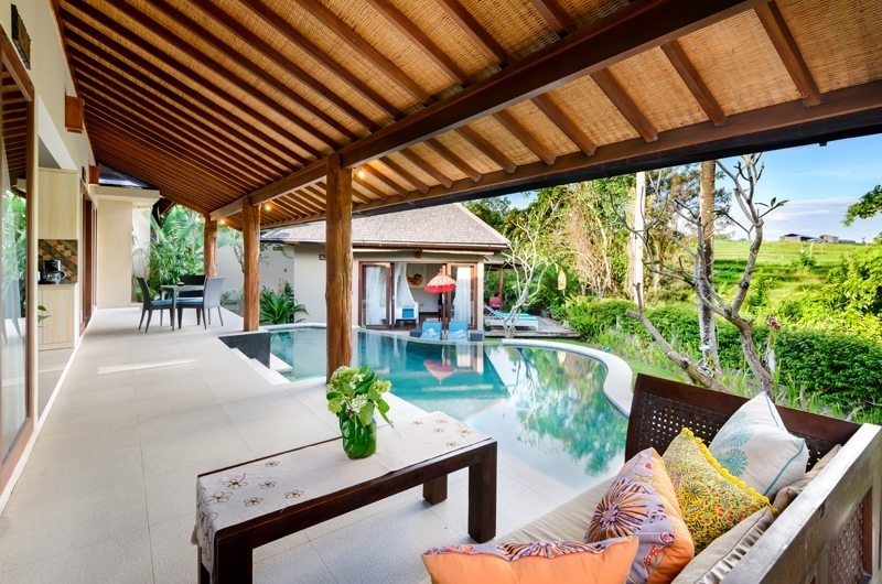 Pool Side Seating Area - Villa Kubu Bidadari - Canggu, Bali