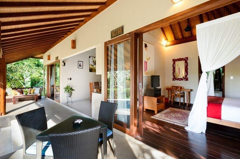 Bedroom with Outdoor Seating Area - Villa Kubu Bidadari - Canggu, Bali