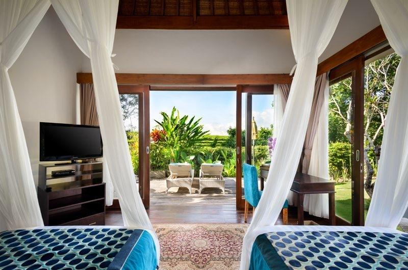 Twin Bedroom with Garden View - Villa Kubu Bidadari - Canggu, Bali