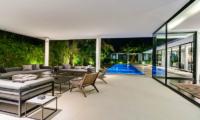 Living Area with Pool View - Villa Ladacha - Canggu, Bali