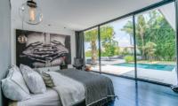 Bedroom with Pool View - Villa Ladacha - Canggu, Bali