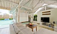 Living Area with TV - Villa Laksmana - Villa Laksmana 2 - Seminyak, Bali