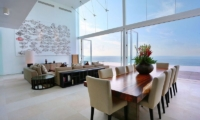 Living and Dining Area with Sea View - Villa Latitude Bali - Uluwatu, Bali