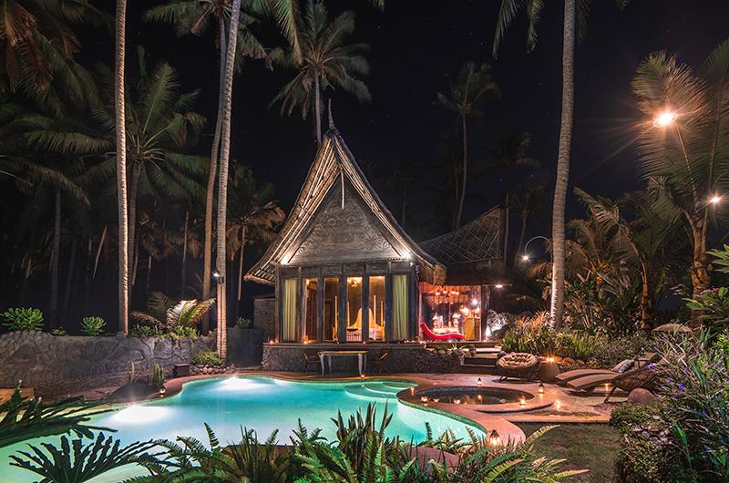 Outdoor View at Night - Villa Laut - Tabanan, Bali